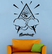 All Seeing Eye Wall Decal Illuminati Sign Vinyl Sticker Wall Mural Home Decor 16