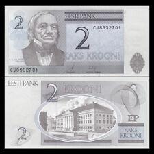 Estonia 2 Krooni, 2007, P-85, UNC