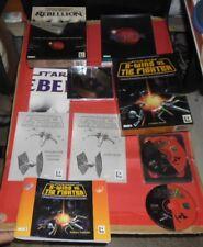 star wars 2 giochi pc cd rom in italiano,rebellion e x-wing vs the fighter lucas