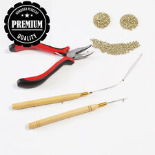 3pcs Kit for Nano Ring Link Hair and Feather Extensions: Pliers, Micro...