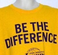 Los Angeles Lakers Basketball Short Sleeve Men's Yellow Shirt Size XL