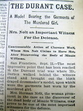 6 1895 newspapers THEODORE DURRANT MURDER TRIAL of BLANCHE LAMONT San Francisco