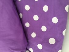 Queen Purple Round Dot Pansy Comforter Duvet Cover Company Store Cotton Violet