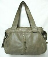 Francesco Biasia Leather Satchel Tote Bag Purse Italy large zip top Italy