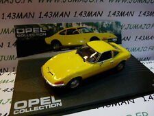 voiture 1/43 IXO eagle moss OPEL collection n° 2 : OPEL GT jaune 1968/73