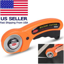 with 5pcs blades Daindy 45mm Round Cutters Sewing Rotary Cloth Guiding Cutting Machine Quilters with 5pcs Blades Quilting Fabric Craft Tool Orange