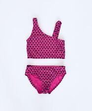 Gap Girls Swim Bathing Suit Bikini Tankini Two Piece Pink Size Medium 8 Hearts