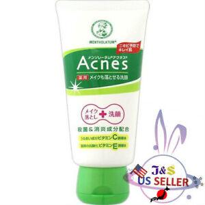 ROHTO Mentholatum Acnes Makeup Cleanser & Face Wash 130g - US Seller