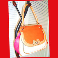 Etienne Aigner Valencia Leather Top Handle Bag Color Block Multi-Color