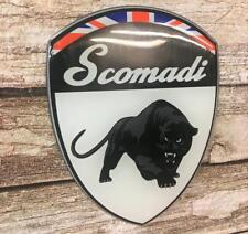 Scomadi Shield Gel badge  White with Union Jack
