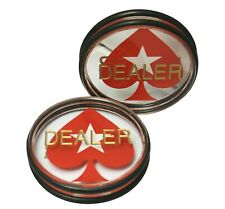 3 Inches Acrylic Dealer Puck Casino Quality Dealer Spades Button Large 2 Pack