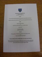 31/08/2013 Portsmouth V Chesterfield-Match Day ospitalità menu, A5 colore, ca