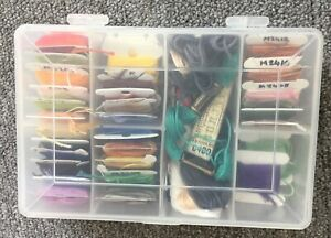 Embroidery Thread Box With Quantity Of Threads.  Used