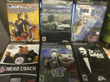 Playstation 2 Game Lot of 6-Chopper, Supercar, Pro Bass, NFL, Godfather, Little