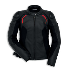 New Dainese Ducati Stealth C2 Leather Jacket Women's EU 46 Black #981032046