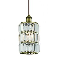 Westinghouse Hanging Pendant Light Lamp Antique Brass with 1 Lamp Crystal Glass