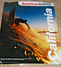 AMERICAN AIRLINES POSTER TO CALIFORNIA