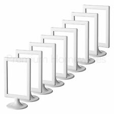 """8x IKEA TOLSBY Double-Sided White Gloss Plastic Picture Frames (10x15cm/4x6"""")"""