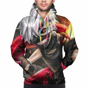 Mens Tokyo Ghoul Kaneki Ken Pullover Hoodies Casual Sweatshirts S-3XL