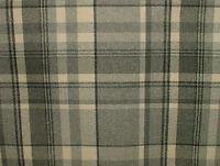 10m Elgin Dove Grey Wool Effect Thick Tartan Upholstery Curtain Designer Fabric