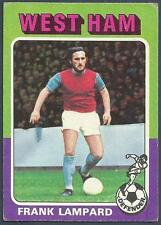 TOPPS 1975 FOOTBALLERS #027-WEST HAM UNITED & ENGLAND-FRANK LAMPARD