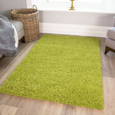 Bright Lime Fern Green Hairy Fluffy Shaggy Living Room House Floor Large Rug