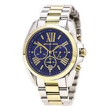 Michael Kors MK5976 Gents Two Tone Steel Navy Blue Dial Date Watch