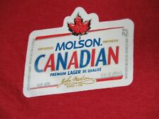 MOLSON PREMIUM CANADIAN BEER - XL  RED T-SHIRT - C1829