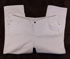NWT Christopher & Banks Classic Fit Straight Leg White Jeans Flex Waist 24WP