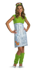 Girls Oscar The Grouch  Sesame Costume Teen Size Large 10-12