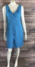 Cynthia Rowley Womens Sheath Dress Size 8 Aqua Blue Textured Sleeveless