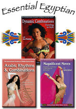 Essential Egyptian Belly Dance DVD Set - How to Belly Dance 3 DVDs / Videos