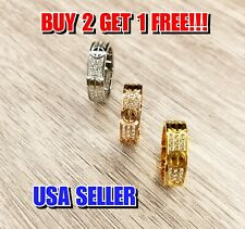 Love Screw Band Ring Full Diamonds Pave Perfect Gift *Buy 2 Get 1 FREE*