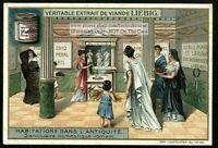 Ancient Roman Womens Domestic Sanctuary c1905 Trade Ad Card