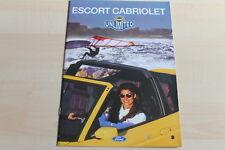 85499) Ford Escort Cabrio Prospekt 03/1996