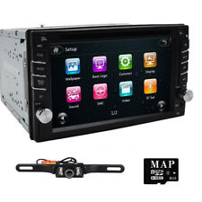 HD Touch Screen Double 2DIN Car GPS Stereo DVD Player Bluetooth Radio for Nissan