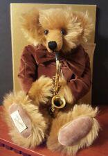 Dean's Rag Book / Max The Sax / Ltd Ed / Mohair Teddy Bear / 98 of 7500 / Signed