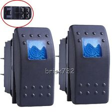 2PCS Blue Led Waterproof Marine Boat Car Rocker Switch ON/OFF Illuminated 4Pin