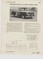 ORIGINAL 1957 IH INTERNATIONAL HARVESTER PICKUP & PANEL TRUCK DEALER SPEC SHEET!