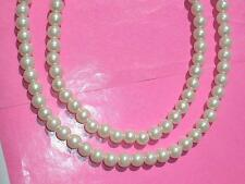 109 Beads STUNNING QUEEN OF THE SEA PEARL MOON GEM STONE NECKLACE