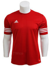 adidas Mens T Shirt Short Sleeve Top Entrada 14 Football Gym Sports Jersey S-2xl Red 2xl
