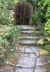 Gartendeko Fairy Door Elfentür Feentür Trolltor Maustür Relief  Steinguss Deko