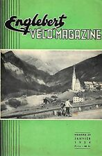 Englebert VELO-MAGAZINE       ---numéro 29 daté de janvier 1954---