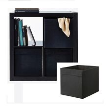 IKEA storage box fabric boxes Expedit Bookshelf Wardrobe clothes magazine BLACK