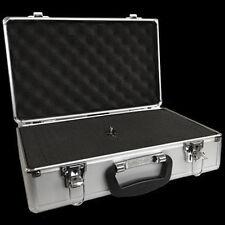 ALUMINIUM FLIGHT CASE Microphone Camera Silver 400 x 240 x 125mm Foam Insert NEW