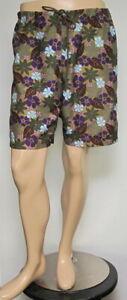 Vintage J. CREW Green Floral Beach Shorts Medium