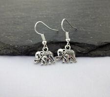 Gift, Elephant Jewellery,Charms Elephant Earrings,Charm Earrings,Silver,Elephant