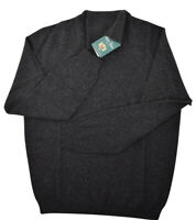 Alan Paine NWT Wool / Cashmere Felbrigg Roll Neck Size XL in Charcoal