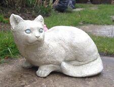 Stone Cat - Kitten Ornament Garden & Home  Remembrance Birthday Keepsake