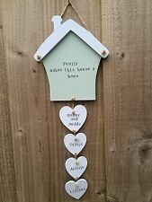 Personalised Plaque Sign House Warming New Home Family Gift Heart Mum Birthday